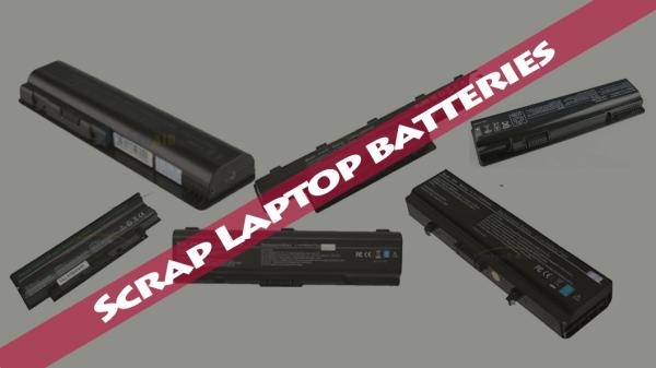 Scrap laptop batteries